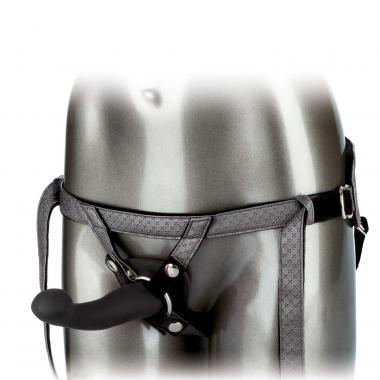 The Royal Vibrating Set Crotchless Strap On Plus Vibrating Probe