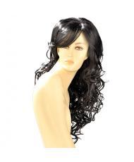 Dareen Black Wavy Long Wig