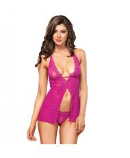 Leg Avenue Halter Babydoll  and  GString UK 812
