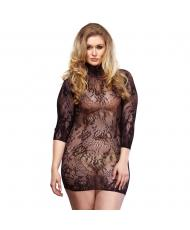 Leg Avenue Floral Lace Mini Dress UK 1618