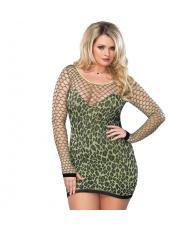 Leg Avenue Seamless Leopard Minidress UK 1618