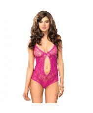 Leg Avenue Keyhole Cut Out Teddy UK 812